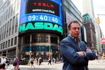 Elon Musk, el rey del Nasdaq. El valor de Tesla aumentó 787% en 2020, para cerrar en USD 669.000 millones   REUTERS/Brendan McDermid/File Photo
