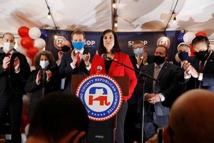 La congresista republicana por New York, Nicole Malliotakis, durante la campaña electoral. REUTERS/Andrew Kelly