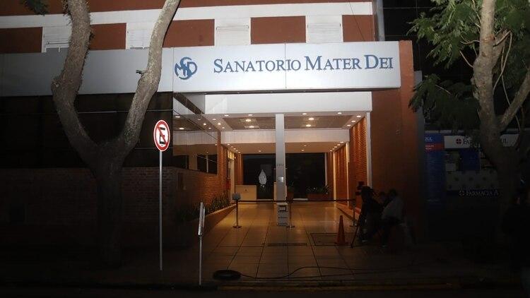 El Sanatorio Mater Dei, en Barrio Parque, donde se encuentra internada Mirtha (Matías Baglietto)