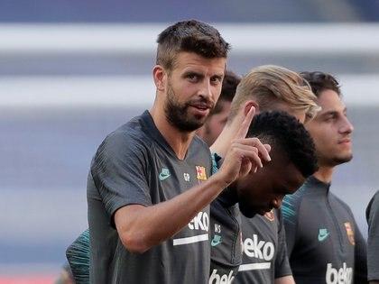 El flamante técnico del Barça contaría con Piqué como uno de los baluartes de la reconstrucción del equipo (Manu Fernández / Pool vía REUTERS)