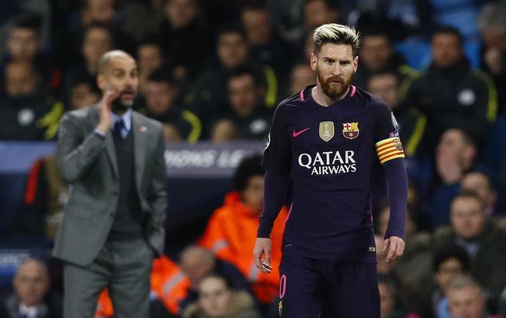 Messi se enfrentó a Guardiola en varias ocasiones después de compartir años gloriosos en Barcelona (Reuters/Jason Cairnduff)