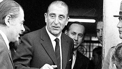 El presidente Eduardo Frei Montalva con su ministro Andrés Zaldívar