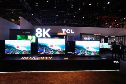TCL presentó su nueva línea de televisores 8K.