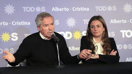 Felipe Solá y Vanesa Siley. El Frente de Todos comunicó en parejasel 11 de agostoFoto NA