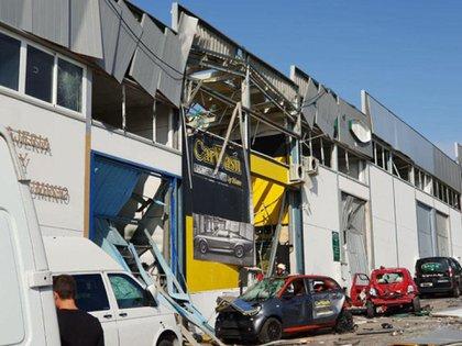 Ataque con explosivos atribuidos a la banda de Los Suecos contra un negocio en Malaga, España