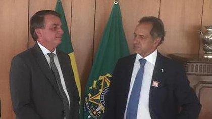 Bolsonaro y Scioli, este miércoles al mediodía