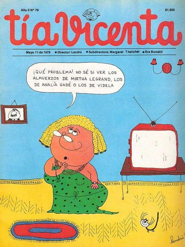 Tia Vicenta, tapa del 11 de mayo de 1979