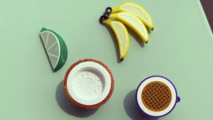 Frutas impresas en 3D de Filamental. Foto: Instagram