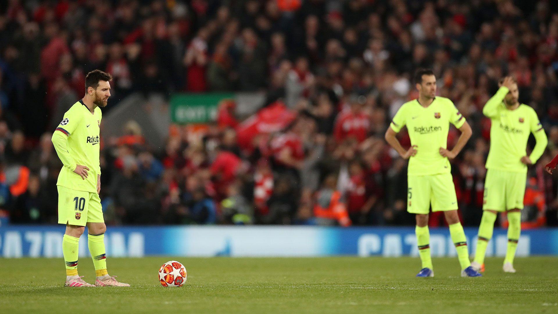 El Barcelona no pudo en Anfield y quedó afuera de la Champions (Reuters)