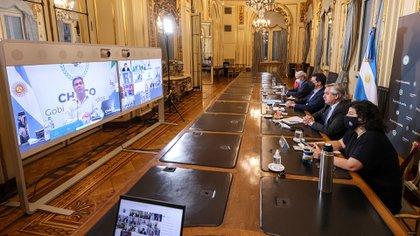La primera reunión que mantuvieron Alberto Fernández y sus ministros con los gobernadores del norte