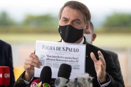 El presidente Jair Bolsonaro es acusado de reiterados ataques contra la prensa de su país (EFE/ Joédson Alves)