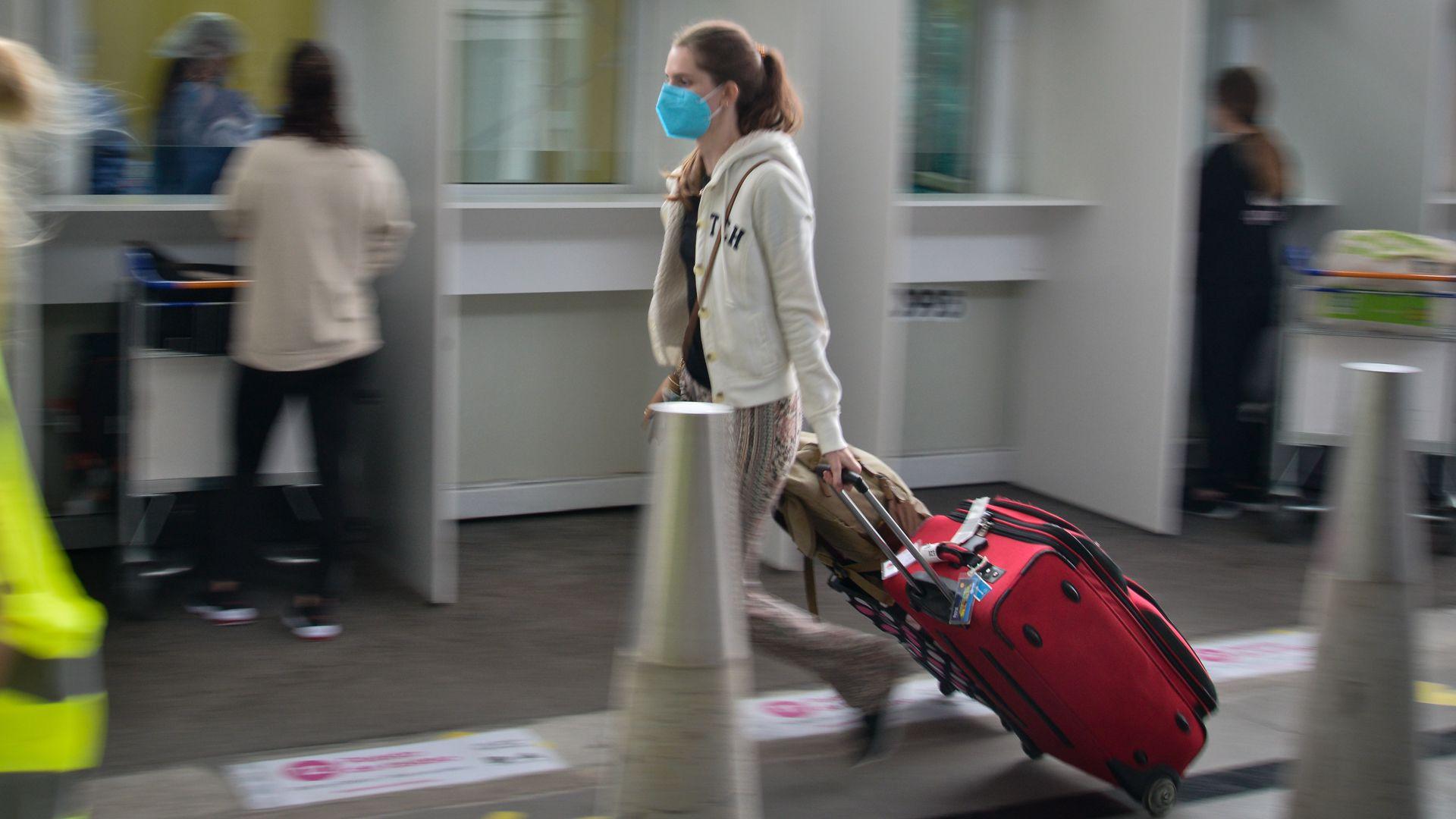 Test de saliva en Aeropuerto Ezeiza