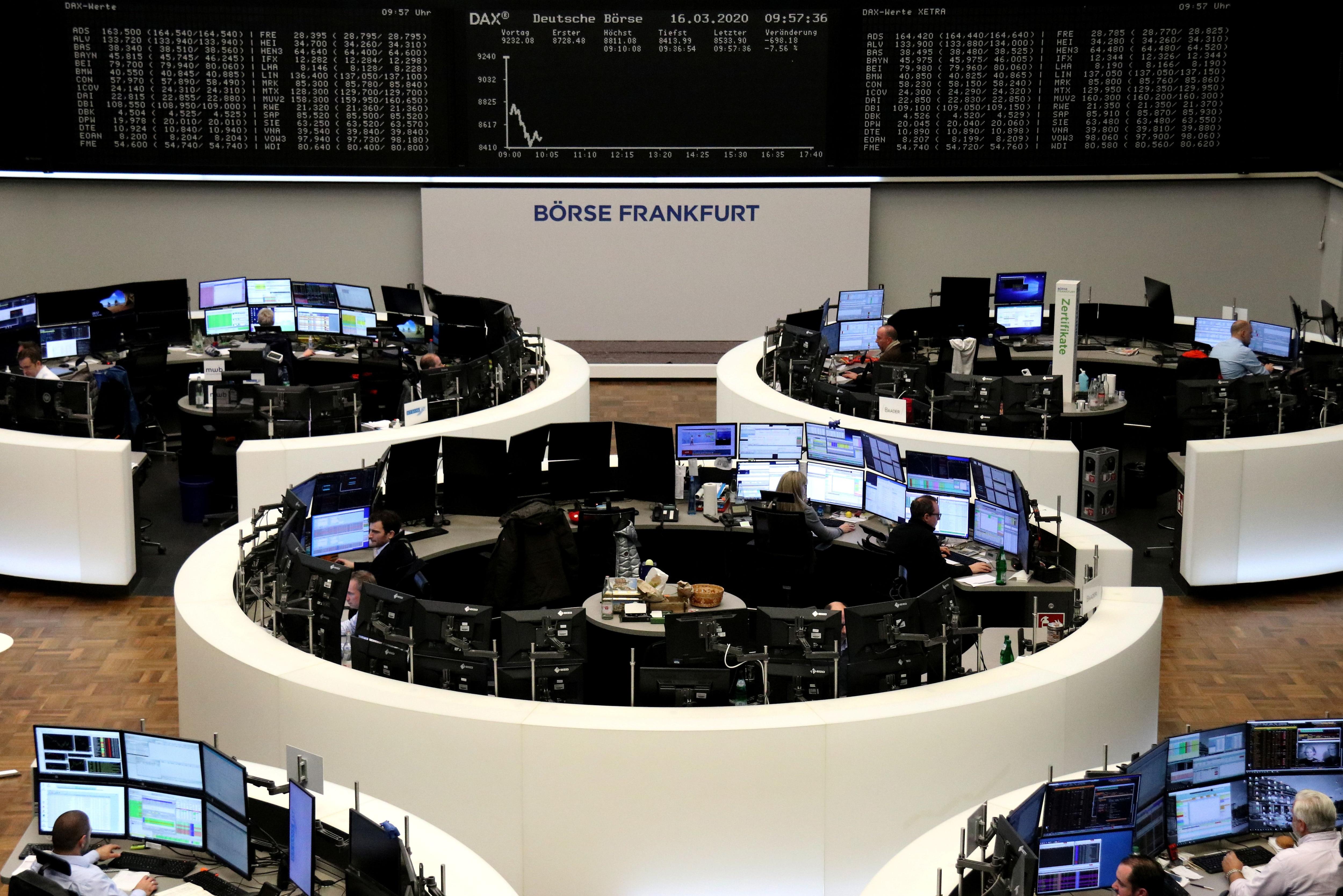 Caída de la bolsa de Alemania, en línea con la tendencia mundial (REUTERS/Staff)