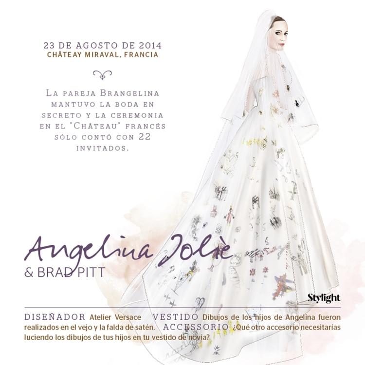 brangelina gate: el mensaje 'oculto' detrás del vestido de novia