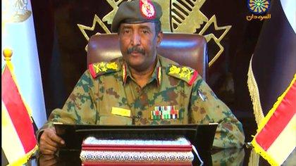 Abdelfatah al Burhan, jefe de la junta militar de Sudán(AFP)