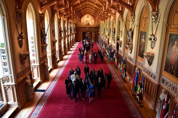 La recepción más íntima luego de la ceremonia religiosa en el castillo de Windsor