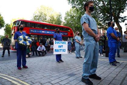Protesta de médicos en Londres (Reuters)