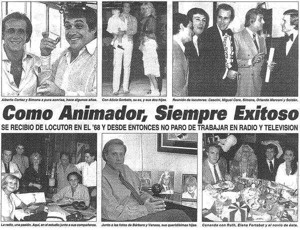 Distintas fotos de la carrera y la vida de Leonardo Simons (Diario Crónica)