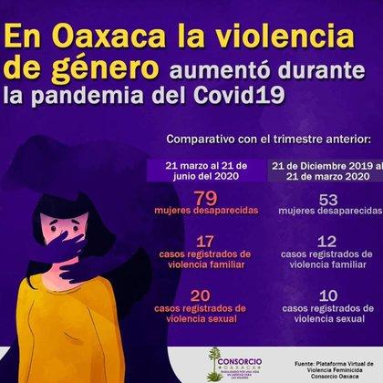 Aumento de la violencia de genero en Oaxaca durante la pandemia (Foto: Facebook/@Consorcio Oaxaca)