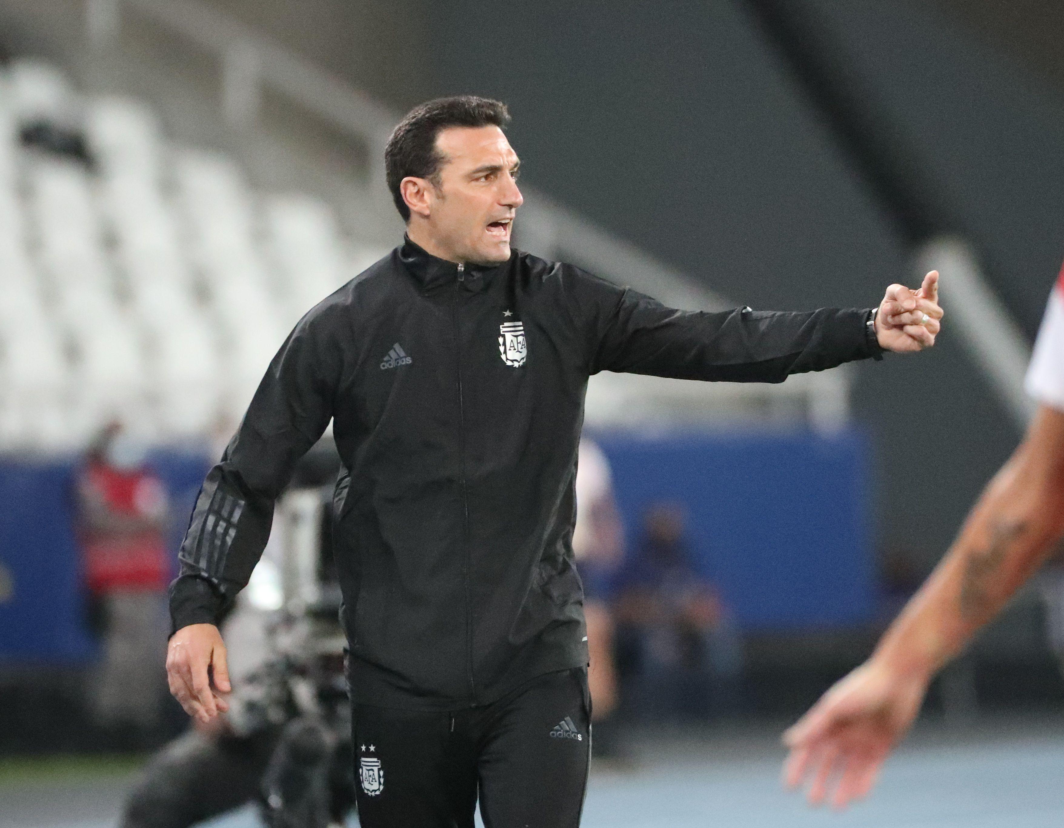 Lionel Scaloni nació como técnico en la Selección (REUTERS/Sergio Moraes)