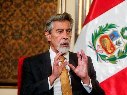 Francisco Sagasti, presidente interino de Perú. REUTERS/Sebastian Castaneda