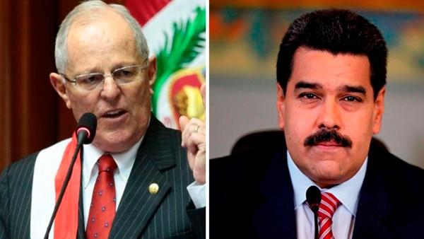 Pedro Pablo Kuczynski y Nicolás Maduro