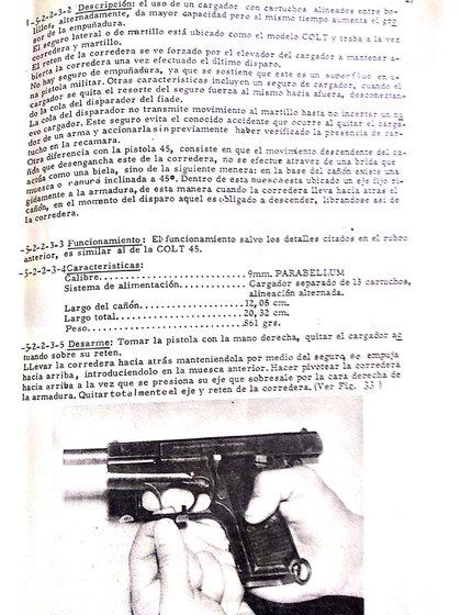 """El """"manual de guerra"""" de Montoneros explica los distintos tipos de arma, la mejor forma de utilizarlas, cómo limpiarlas y utilizarlas con """"el enemigo""""."""