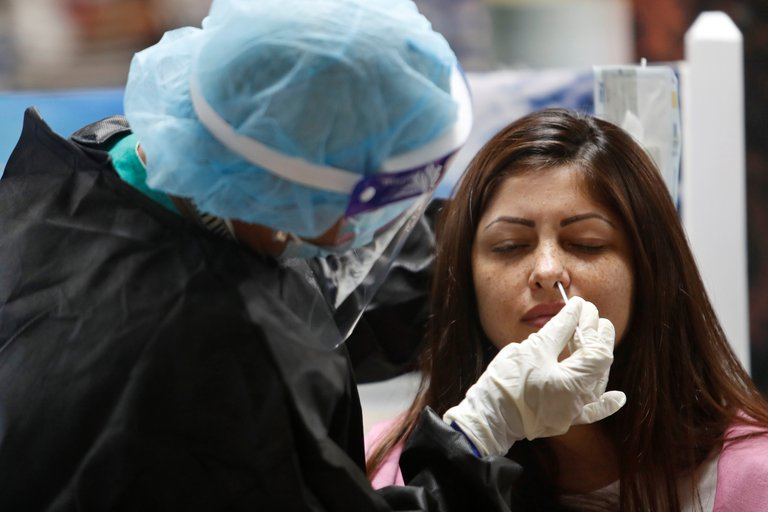 hisopado test coronavirus