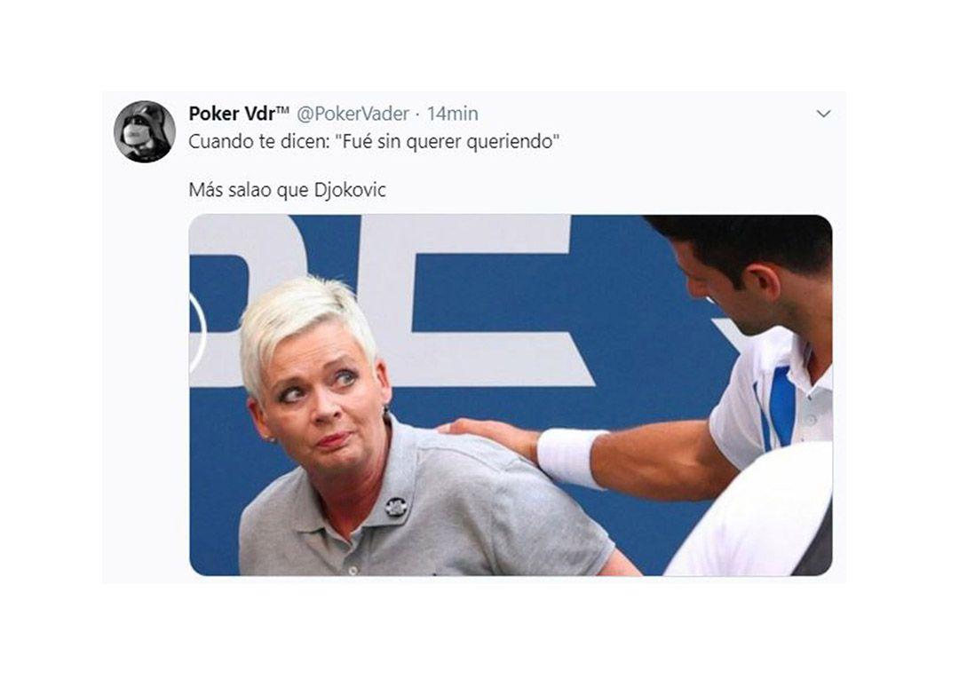 memes Novak Djokovic descalificado del US Open