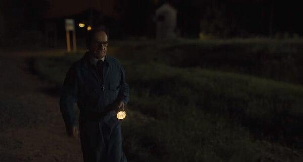 El momento de la captura en la película