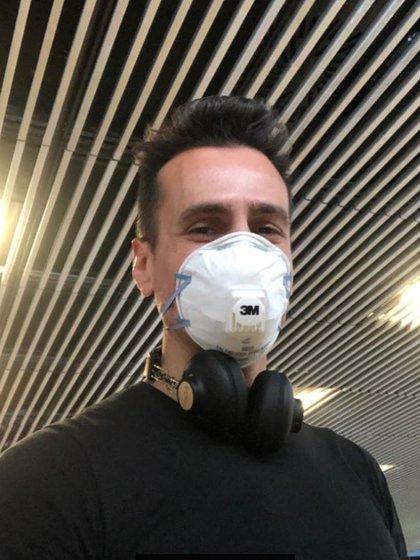 El actor debió adelantar su regreso a Buenos Aires por el coronavirus (Foto: Instagram)