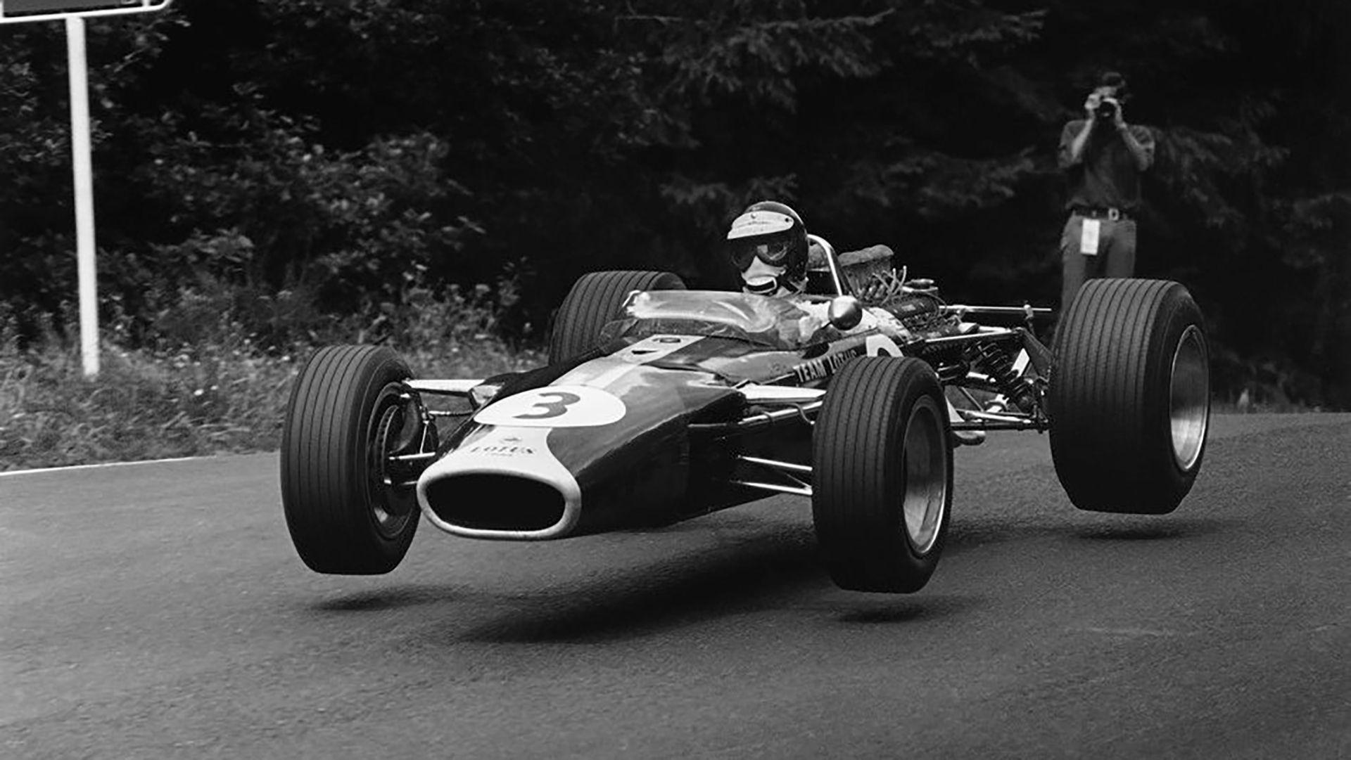 """El Escocés Volador"" en Nürburgring en 1967 (Facebook Jim Clark Trust)."