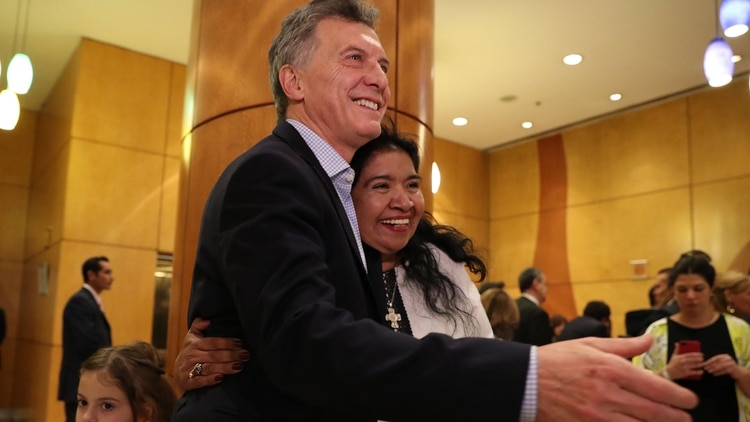 Margarita Barrientos y el presidente Mauricio Macri cultivaron una estrecha relación