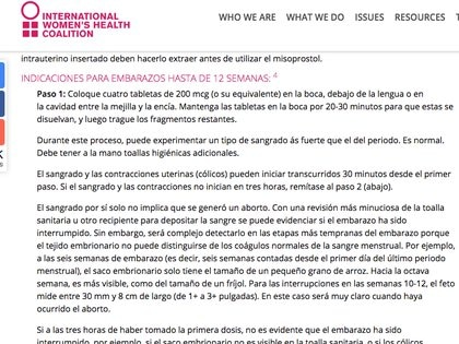 (Coalición Internacional para la Salud de la Mujer)