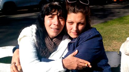 Marina Beatriz Aragunde junto a Valeria Ziggiotto, cuando todavía creía que era su hija. La foto fue tomanda antes de que se sometieran a un ADN