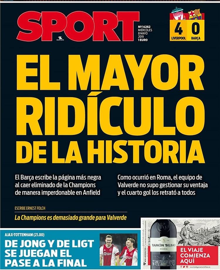 """Sport, España: """"El mayor ridículo de la historia"""""""