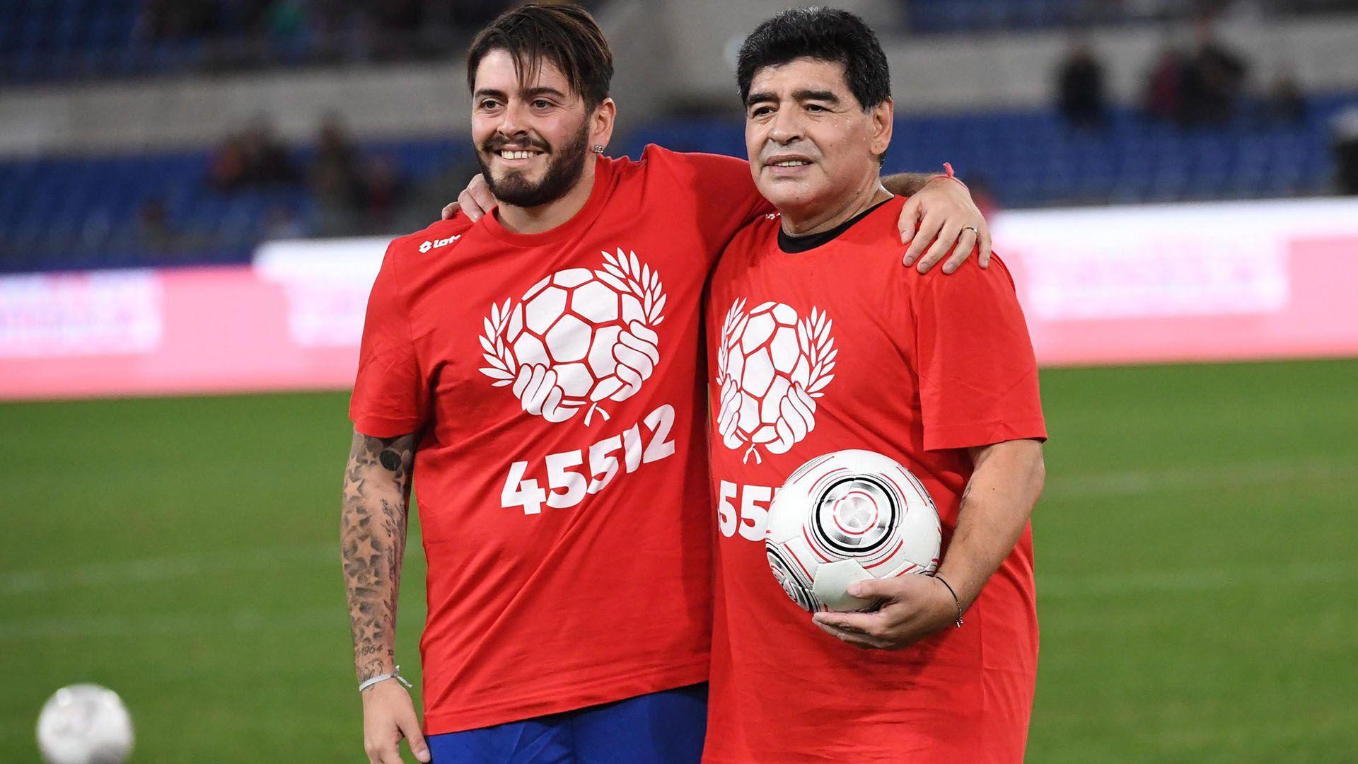 Diego Maradona Junior escribió un mensaje de despedida para su padre (Foto: EFE)