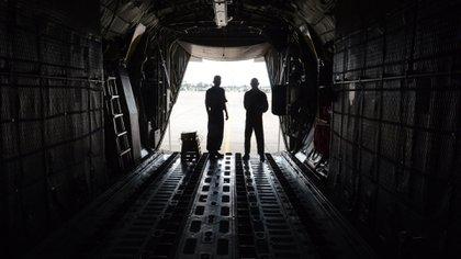 El Hércules, al inicio de la pandemia, protagonizó los vuelos de repatriados y llevó insumos y personal médico a distintos puntos, a lo largo y ancho del país. Foto: Fernando Calzada.