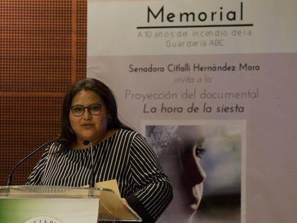 La secretaria general de Morena se encargó de recopilar las opiniones de las mujeres allegadas a Morena (Foto: Andrea Murcia)