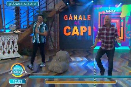 """Facundo ya le había ganado al """"Capi"""" Pérez y éste le pidió una revancha (Captura de pantalla - Venga la alegría)"""