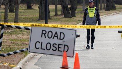 Una vía cerrada en Washington (Reuters)