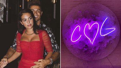 La luna con las iniciales de Cristiano y Georgina (@georginagio)