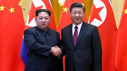 Xi Jinping recibió a Kim Jong-un en Beijing (AP)