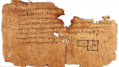 Imagen de uno de los Papiros de Oxirrinco (Wikipedia)
