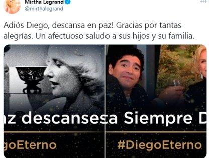 Mirtha Legrand expresó su cariño por Diego Maradona