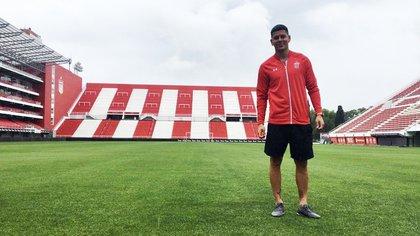 Rojo, en el renovado estadio de Estudiantes, en el que quiere seguir jugando
