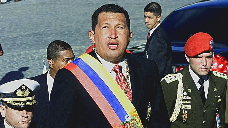 Hugo Chávez en 2003 (AFP PHOTO/ Andrew ALVAREZ)