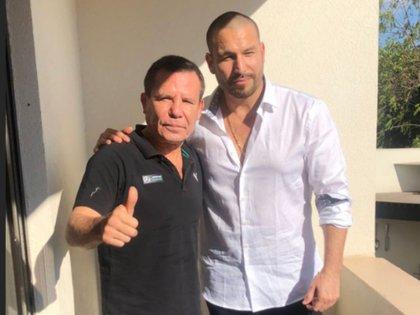 El actor reapareció al lado del boxeador Julio César Chávez (Foto: Instagram de Julio César Chávez)