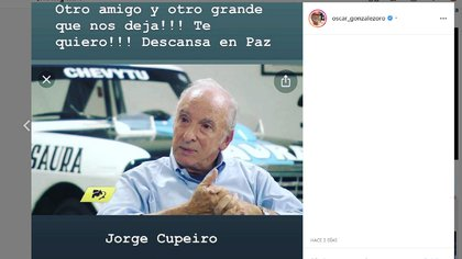Oscar González Oro despidió a Jorge Cupeiro