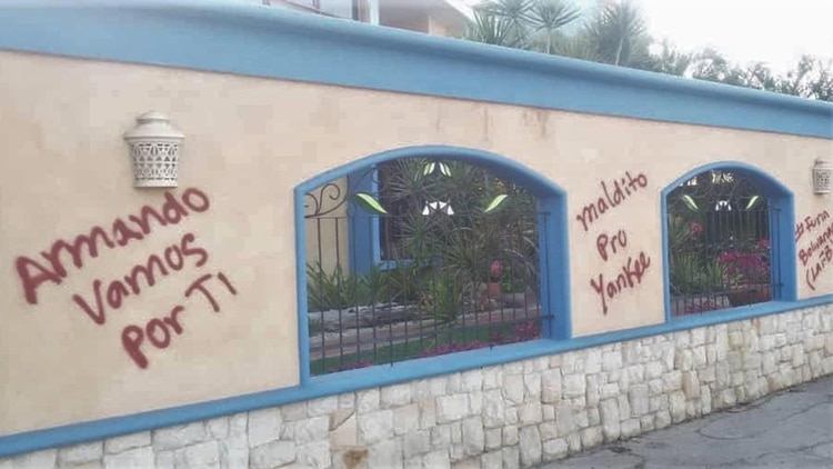 La casa de la madre del diputado Armando Armas